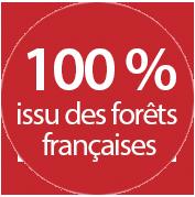 100% issus des forêts françaises
